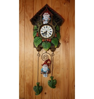Wall Clock,  two gnomes,...
